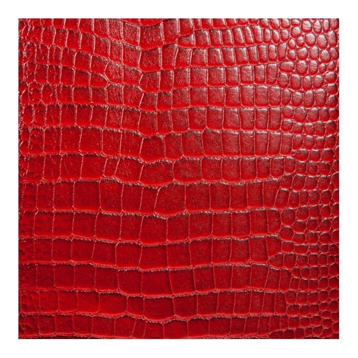 Red Embossed Croc