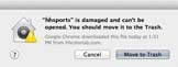 Mac OSX Security Warning