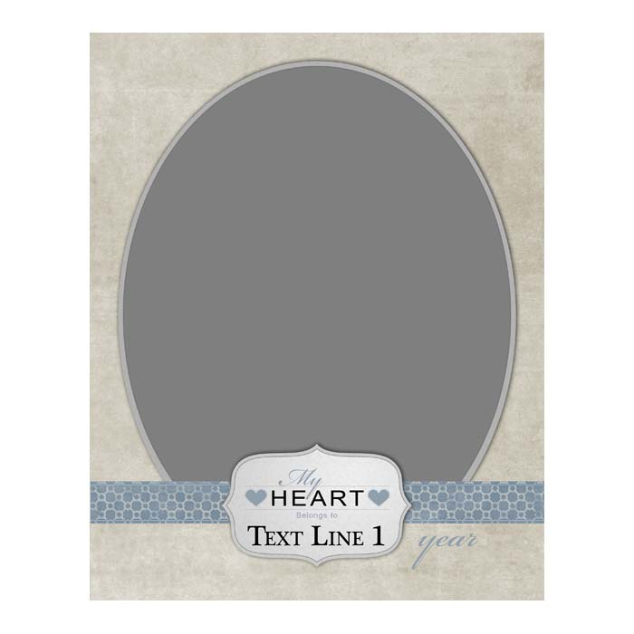 My Heart (Blue) - 8x10