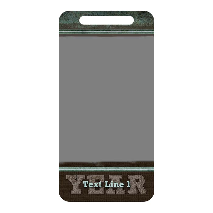 Sage Tweed Luggage Tag