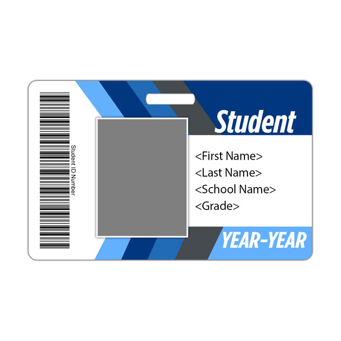 Arrow ID Card Theme with barcode