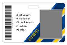 Diagonal ID Card Theme with barcode