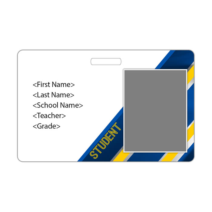 Diagonal ID Card Theme