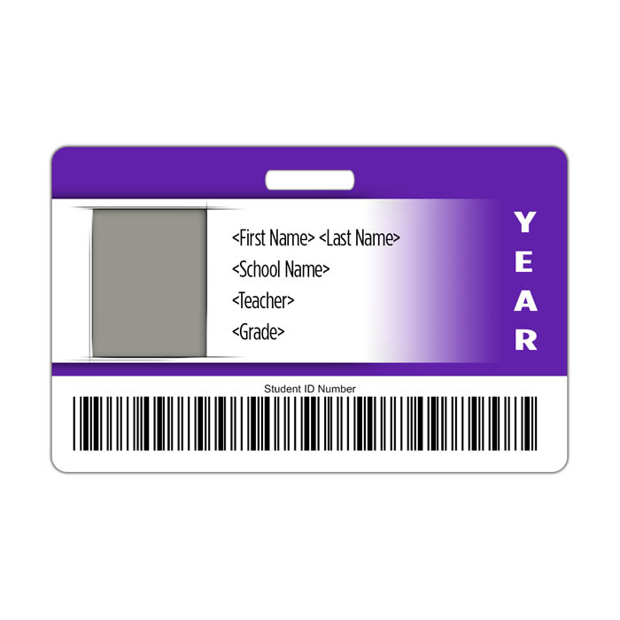 Gradient ID Card Theme with barcode