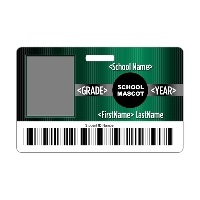 Pinstripe ID Card Theme with barcode