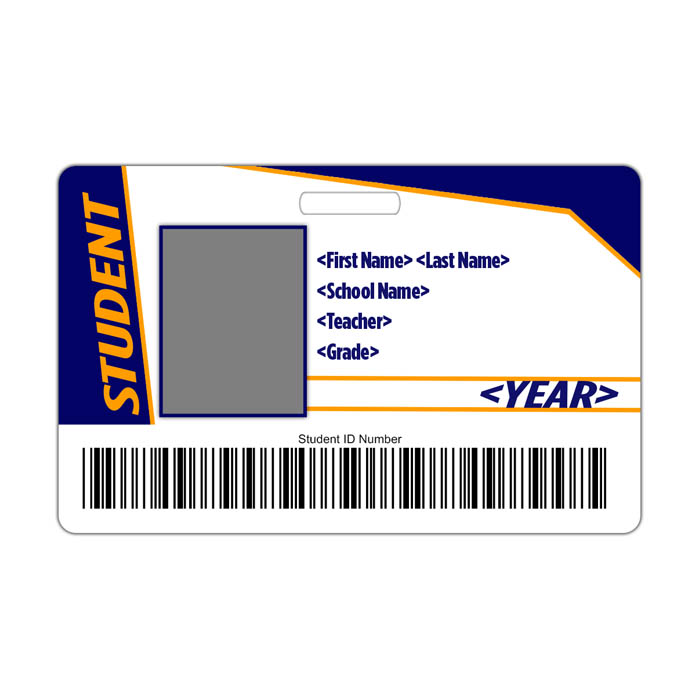 Retro ID Card Theme with barcode