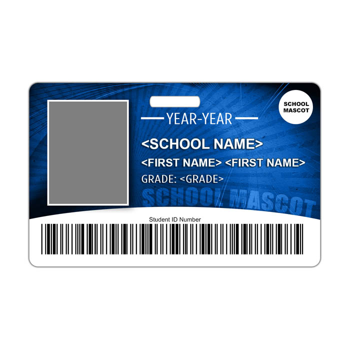 Sunburst ID Card Theme with barcode