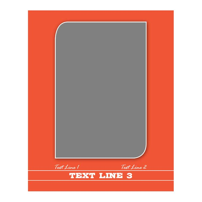 5x7 or 8x10 Plaque Border