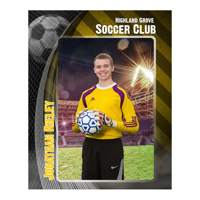 Border with Yellow background, Soccer icon
