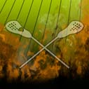 Lacrosse with fire