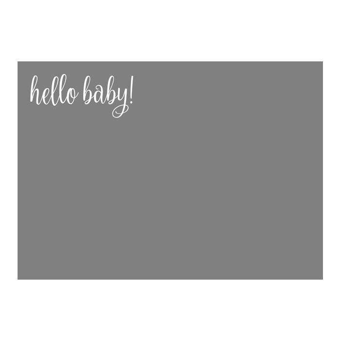 Hello Baby 5x7H 2-Sided