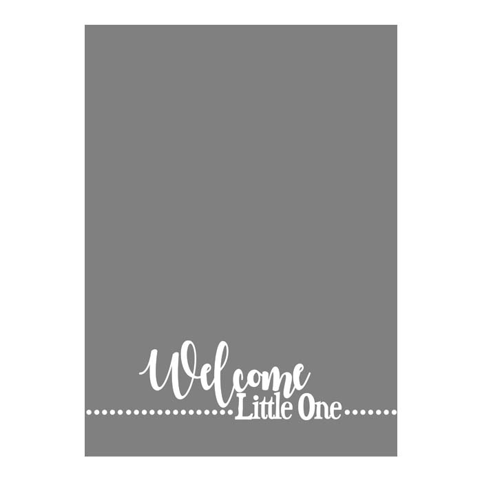 Welcome Little One 5x7V 2-Sided