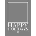 Happy Holidays Border 2-Sided 5x7V