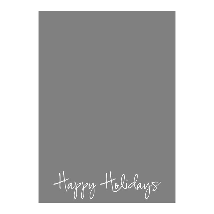 Happy Holidays Script 2-Sided or Side Fold 5x7V