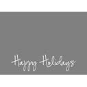 Happy Holidays Script 2-Sided or Side Fold 5x7H