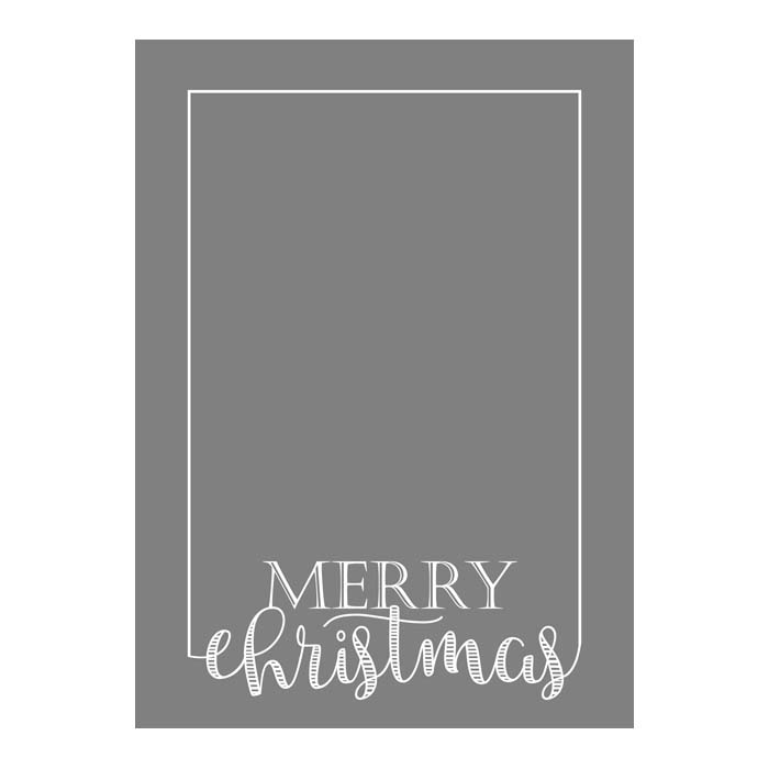 Merry Christmas Border 2-Sided 5x7V