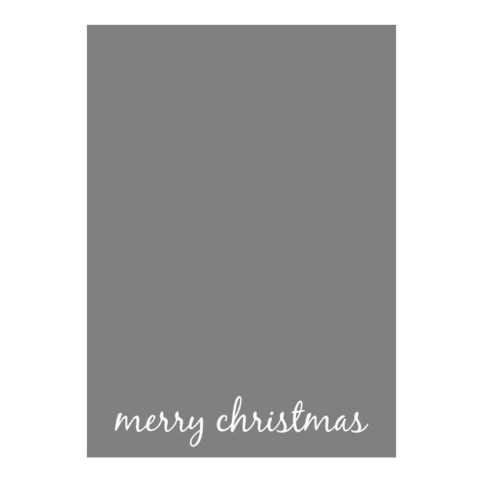 Merry Christmas Script 1 2-Sided or Side Fold 5x7V