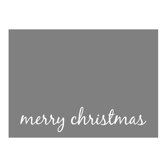 Merry Christmas Script 1 2-Sided or Side Fold 5x7H