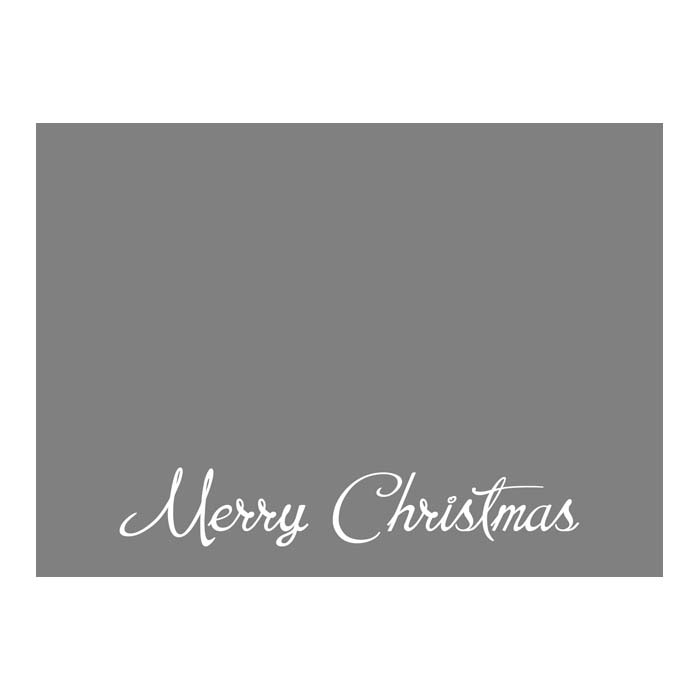 Merry Christmas Script 2 2-Sided or Side Fold 5x7H