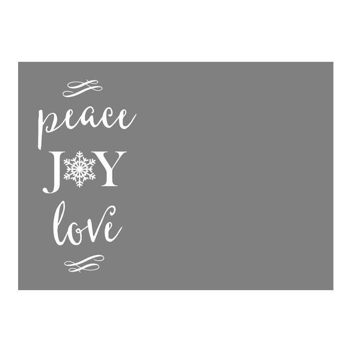 Peace Joy Love Snowflake 2-Sided 5x7H