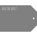 Save The Date - Casual 5x7H Designer Tag