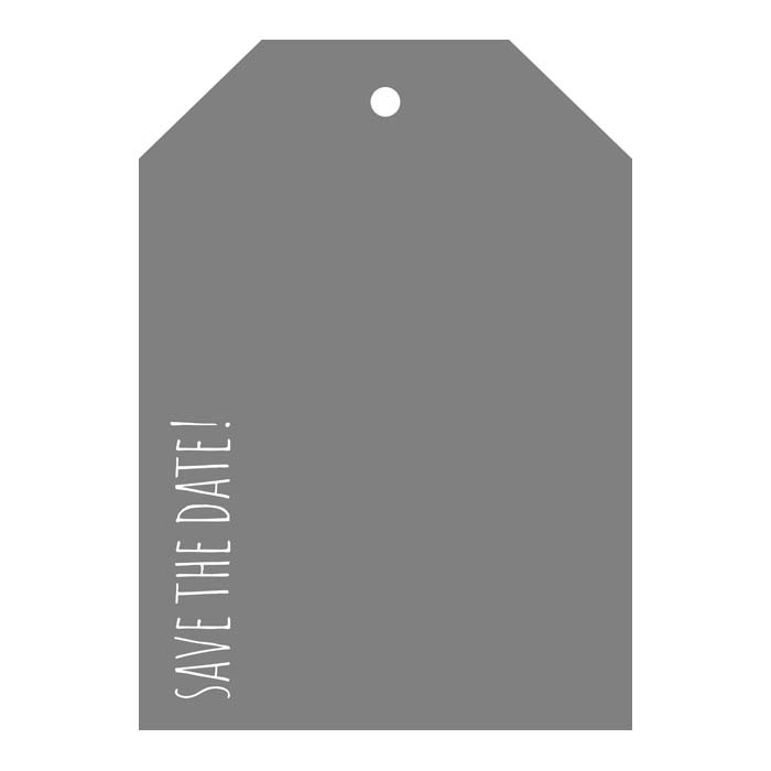 Save The Date - Casual 5x7V Designer Tag