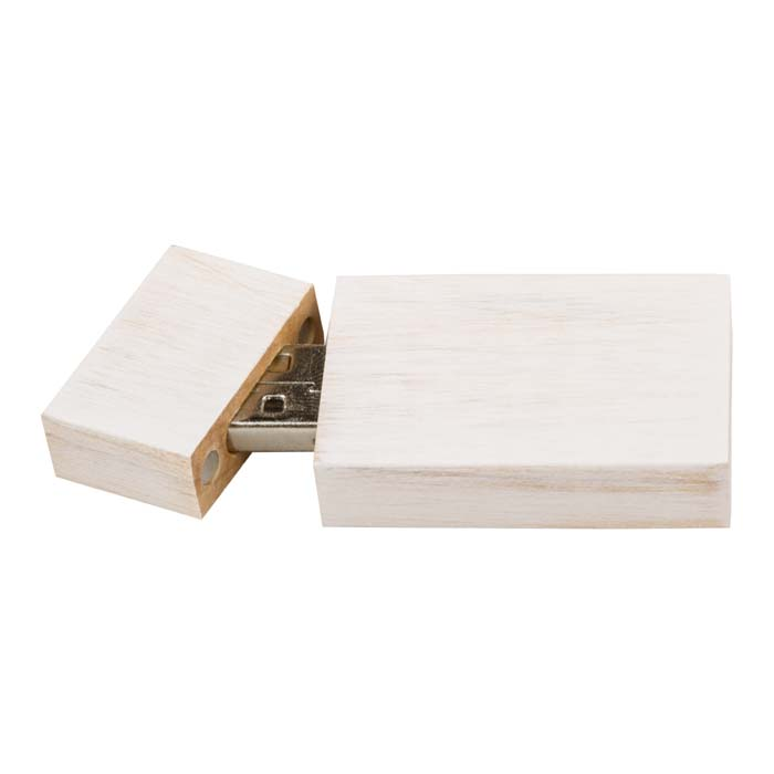 Wood USB Drive-White