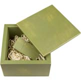 Wood USB Drive-with Box-Olive