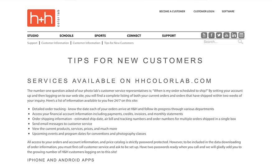 tips for new customers